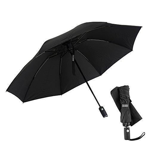- Third Floor Umbrellas 46 Inch Automatic Open and Close Inverted Umbrella - Compact Reverse Umbrella Windproof - Big Lightweight Upside Down UV Travel Umbrella for Car - Closes Inside Out