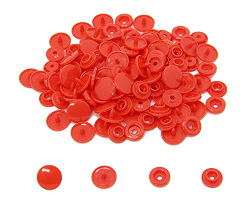 200 KAM Size 20 T5 Resin Plastic Snaps Buttons for Baby Bib Cloth Diaper (B1 - Bright ()