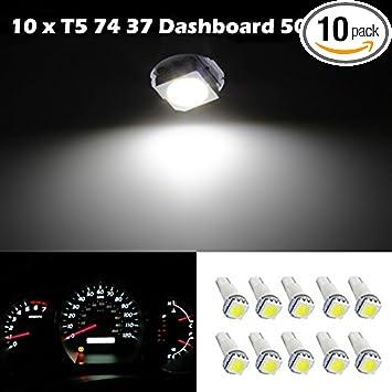 10PCS T3 LED Neo Car Wedge Instrument Dashboard Gauge Cluster Bulbs Lights White
