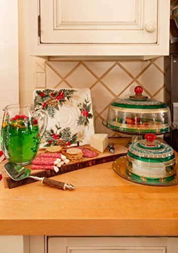 Golden Hill Studio guirnalda navideña cúpula para tartas, verde