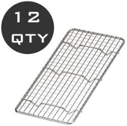 12 QTY WHOLESALE 1//3 SIZE WIRE PAN GRATE COOLING RACK