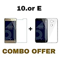 Tekshield Combo of Tempered Glass With Transparent Back Cover for 10.Or E