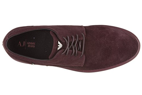 3a992ebdaa2f high-quality Armani Jeans men s classic suede lace up laced formal shoes  derby bordeaux