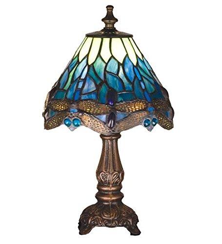 Meyda Tiffany 26597 Hanginghead Dragonfly Mini Accent Lamp, 11.5