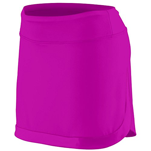 Augusta Sportswear Women's Action Color Block Skort L Power Pink/Power (Power Tennis Skort Skirt)