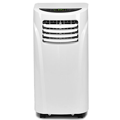 COSTWAY Portable Air Conditioner with Remote Control Dehumidifier Function Window Wall Mount (10,000 BTU)