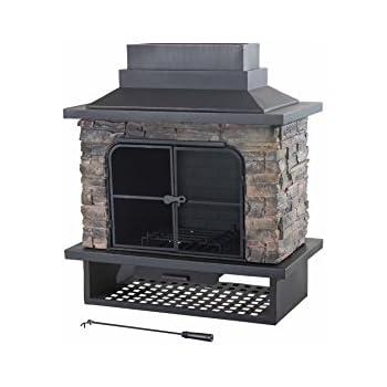 Sunjoy CulturedStone Fireplace Large Bowl