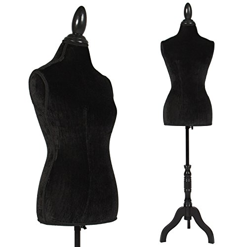 Professionally Tailor Design Female Mannequin Torso Dress With Tripod Stand Display And Add Classy Style To Your Cloths  Black