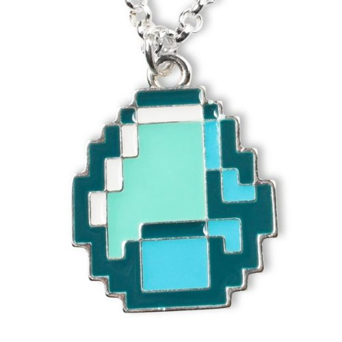 Minecraft diamond necklace metal chain pendant amazon minecraft diamond necklace metal chain pendant amazon computers accessories aloadofball Choice Image