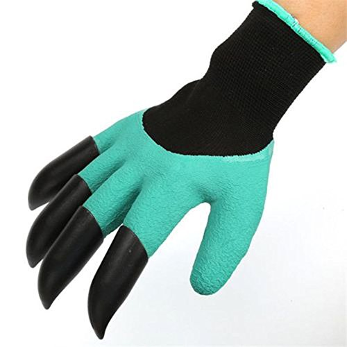 S&M TREADE-1 Pair Garden Gloves Digging Planting 4 ABS Plastic Claws Gardening Gloves - Uk Collections Atlas