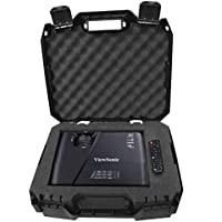 CASEMATIX Workforce Video Projector Carry Case with Protective Foam - Fits Viewsonic Lightstream XGA WXGA 1080p 3D Projectors - Models PJD7720HD, PJD5553LWS , PJD5353LS, ex5250