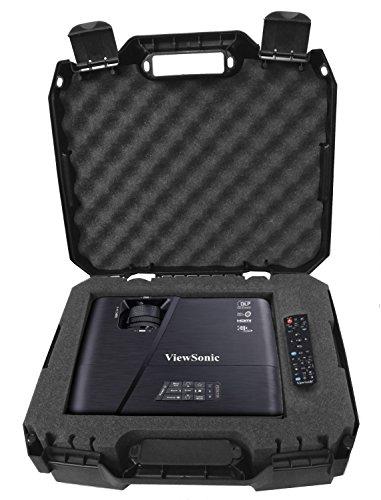 WORKFORCE Video Projector Carry Case With Protective Foam - Fits Viewsonic Lightstream XGA WXGA 1080p 3d Projectors - Models PJD7828HDL , PJD7720HD , Pro7827HD , PJD5553LWS , PJD5353LS , ex5250 by CASEMATIX