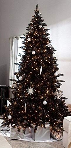 Holiday Time Pre-Lit 6.5' Madison Pine Black Artificial Christmas Tree Clear