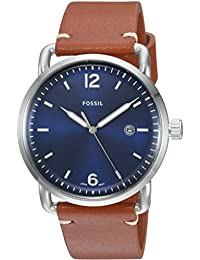 Men's FS5325 The Commuter Three-Hand Date Luggage Leather Watch
