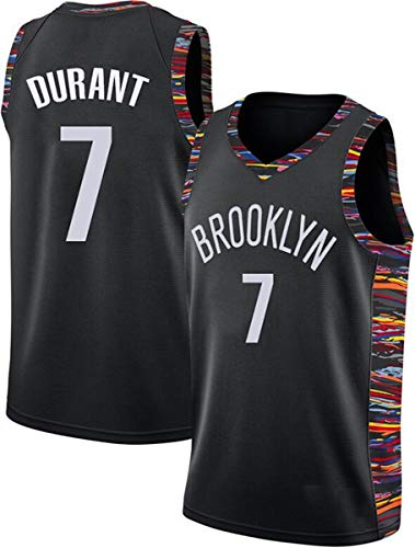 WSUN Camisetas De Baloncesto para Hombre NBA Brooklyn Nets # 7 Kevin Durant Basketball Swingman Edition Mesh Jersey…