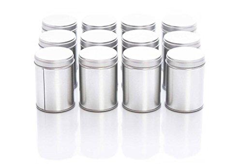 12 große Gewürzdosen mit Aromadeckel