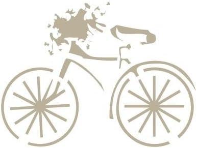 TODO-STENCIL Mini Deco Vintage Figura 048 Bicicleta. Medidas aproximadas: Medida Exterior 12 x 12 cm Medida del diseño:7,4 x 5,6 cm: Amazon.es: Hogar