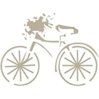 TODO-STENCIL Mini Deco Vintage Figura 048 Bicicleta. Medidas