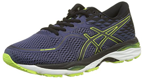 ASICS BLACK SAFETY 19 Black Men Blue YELLOW Safety Gel BLUE INDIGO Indigo Cumulus Yellow rPgr7q