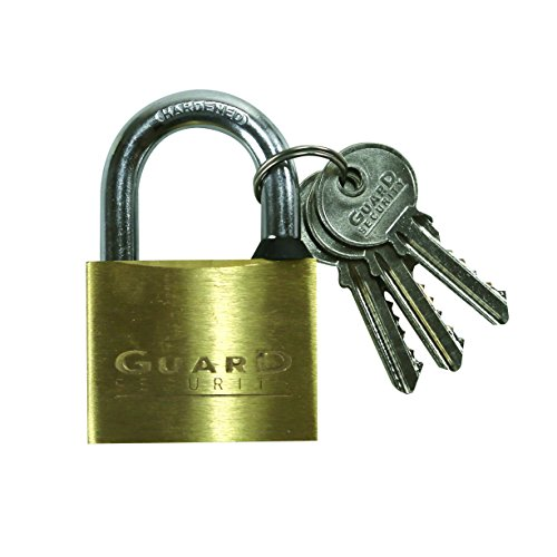 Guard Security 626 Solid Brass Padlock 2-Inch Standard Shackle