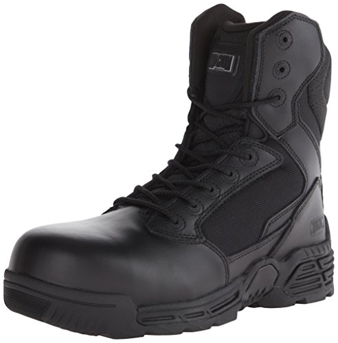 Magnum Men's Stealth Force 8 Inch Side Zip Composite Toe Waterproof Military and Tactical Boot, Black, 10.5 W (Mens Magnum Stealth Force)