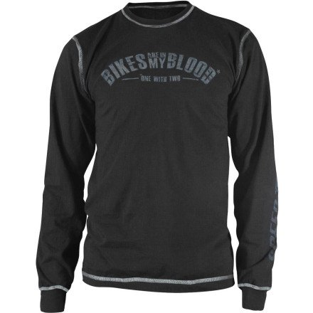 Speed & Strength Bikes Are In My Blood Long Sleeve T-Shirt (SMALL) (BLACK)