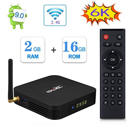 ESHOWEE TX6 Android 9.0 TV Box Quad-core DDR3 2GB Ram 16GB ROM 4K UHD 2.4 G WiFi Smart TV Media Box
