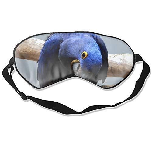 Animal Hyacinth Macaw Birds Natural Silk Sleep Mask,Adjustable Super-Smooth Soft Eye Mask for -