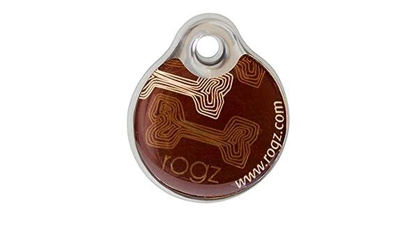 Rogz ID Tagz Mocha Bone - Hueso de Hueso (27 mm, tamaño pequeño ...