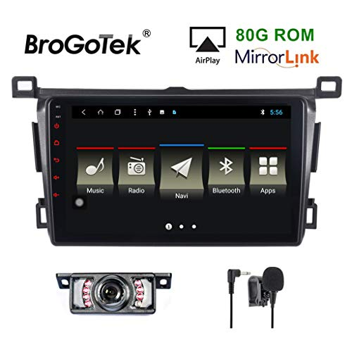 Android 8.1 Car Stereo Head Unit for Toyota RAV4 2012-2019 Car Radio Double Din GPS Navi Navigation 9 Inch IPS Panel Touch Screen Bluetooth Radio SWC 4G WiFi CAM-in