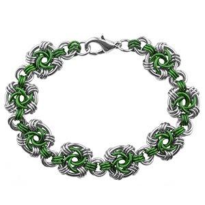 Weave Got Maille Shamrock Swirls Chain Maille Bracelet Kit]()