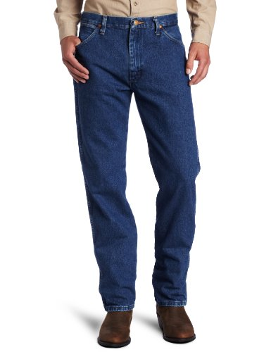 Wrangler Men's Tall Cowboy Cut Original Fit Jean, Stonewashed, (Regular Fit Stone Washed Jean)