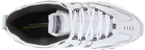 Skechers Sport Men's Vigor 2.0 Serpentine Memory Foam Sneaker,White/Charcoal,10 M US by Skechers (Image #7)