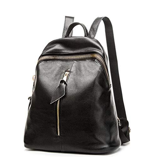 Travel Schoolbag Travel Leisure Women Leather Pu Soft Student 2 Backpack Black Shoulder Female Bag dzwSd