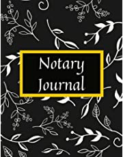 Notary Journal: Notary Public Logbook: Record Notarial Acts