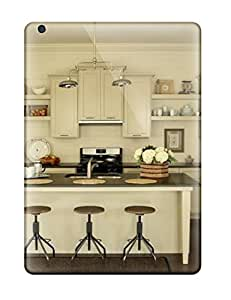 Cute Appearance Cover/tpu TCprpit3885nhHoM Farmhouse Kitchen With Breakfast Bar And Vintage Stools Case For Ipad Air
