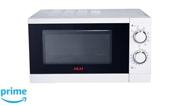 Akai Microondas AKMW200 Blanco, con Grill, 20L, 700 W, 20 ...