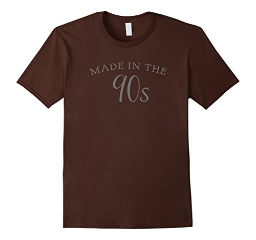 Mens  Made in the 90s Funny Birthday T-shirt 3XL Brown (90s Themed Clothes)
