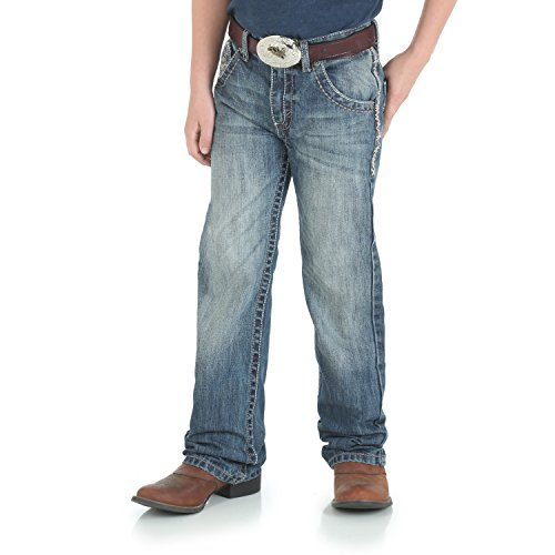 Western Boots Clothes (Wrangler Boys' Big 20x Vintage Boot Cut Jean, Breaking Barriers, 14 Reg)