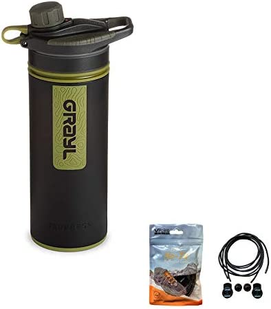 GRAYL Geopress Purifer/filtro botella de agua de 710 ml, viene con ...