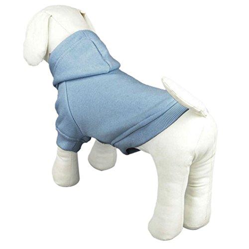 dzt1968 1 pc Fashion Winter Pet Puppy Dog Cat Coat Clothes Hoodie Sweater Costumes (S, SB)