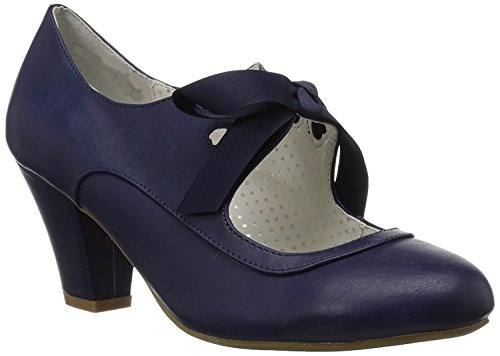 Heels Up Higher Flats blue Navy Lace Women's T677xd
