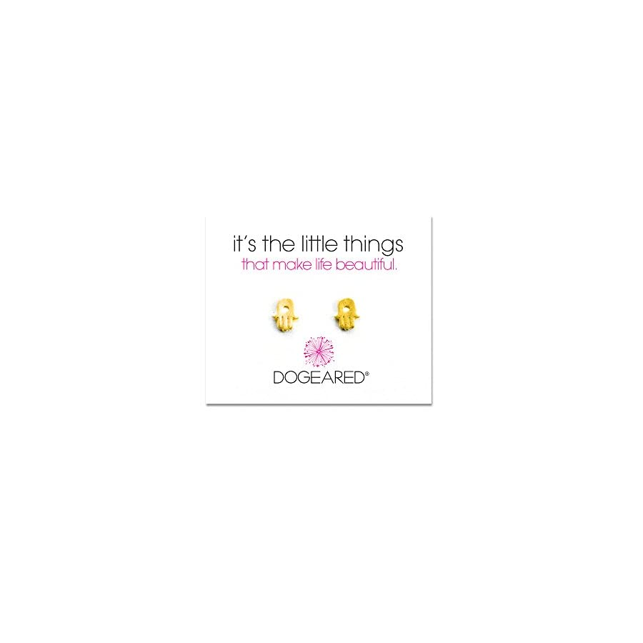 Dogeared Hamsa Stud It's The Little Things Earrings