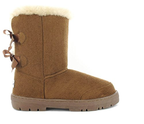 Comfortable Chestnut Faux Boot 5 Size 8 4 Beau Winter Ella Womens Fur 7 4 6 Lined UK Ladies 3 wSqqHxRUI