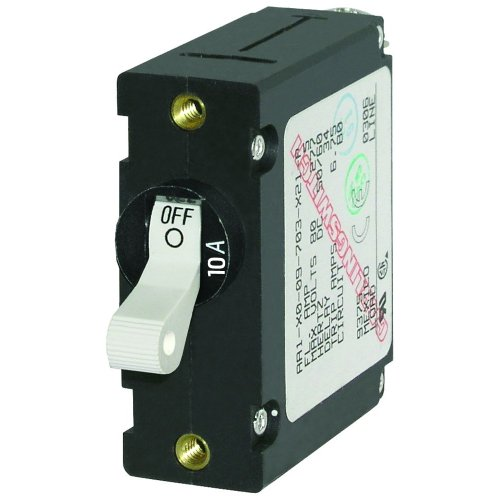 1 - Blue Sea 7206 AC / DC Single Pole Magnetic World Circuit Breaker - 10 Amp
