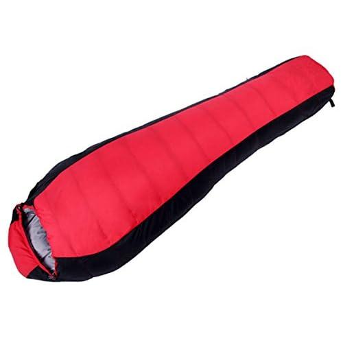 Xin.Summum Down Sac De Couchage Pour Le Camping Sac à Dos Randonnée Coutures (bleu Et Rouge)