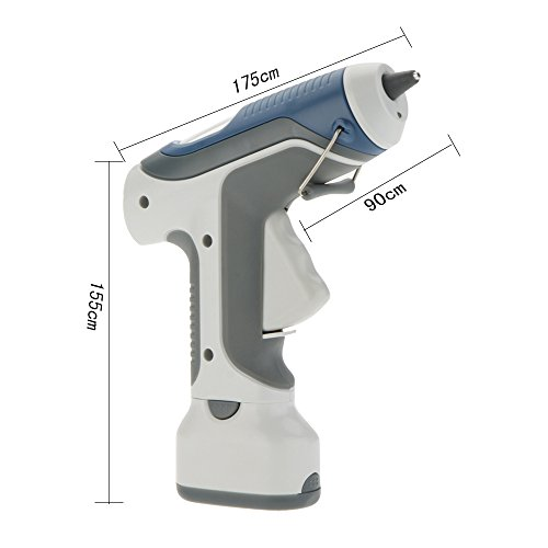 Walmeck Pro'sKit GK-368 6V Battery Cordless Hot Melt Glue Gun Block Gine LED Lighting For DIY Model Living Craft by Walmeck (Image #3)