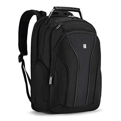 LEVEL8 15.6 Inch Water Resistant Laptop Backpack for men/macbook pro , Black