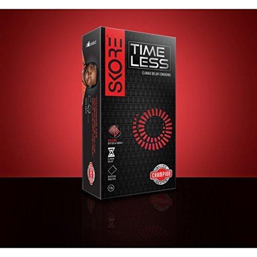 PleasureWorld - Skore Timeless Climax Delay Condoms - 10 Count