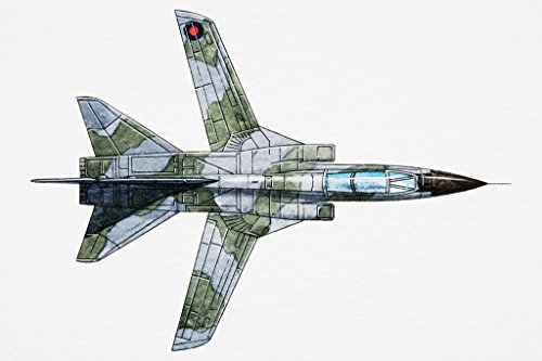 (F111 Strategic Bomber Art Print Poster 18x12 inch)